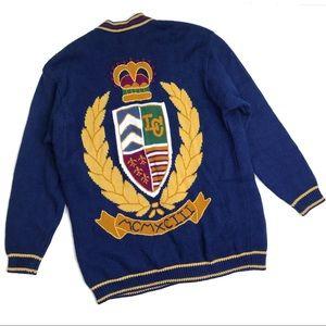 [Liz Sport] Vintage Embroidered Cardigan Large